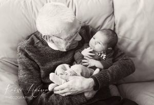 Newborn and Great Grandpa